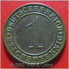 GERMANY WEIMAR REPUBLIC 1934-A 1 REICHSPFENNIG BERLIN MINT GERMAN WORLD COIN