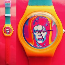 Ziggy Stardust David Bowie psychedelic watch - Retro 80s designer watch