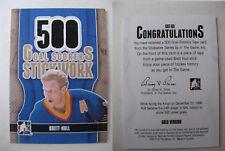 2013-14 ITG Stickwork Brett Hull 1/1 500 goal scorers GOLD tape 1 of 1 blues