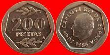 200 PESETAS J.CARLOS I 1986 ESPAÑA SC DE CARTUCHO