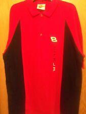 2 Button Nascar dress shirt XL Budweiser Dale JR red black