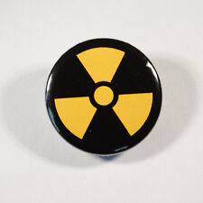"RADIATION WARNING SYMBOL Badge/Button GIFT with METAL PIN ( Size is 1"" / 25mm)"