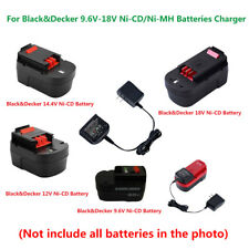 For Black&Decker A18 HPB18 A14 HPB14 HPB12 9.6V-18V Ni-Cd/Ni-MH Battery Charger