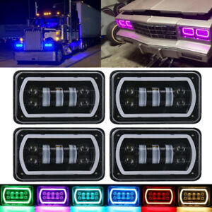 """4Pcs 4x6""""INCH RGB LED Headlight Headlamp DRL Projector For Chevrolet Monte Carlo"""