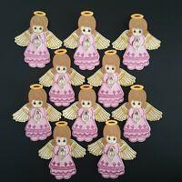 10 Pc Pink Angel Foam Girls Party Favors Communion Baptism Recuerdos De Bautizo