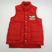 Vtg OshKosh B'Gosh Mens Small Red Puffer Vest