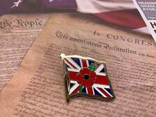 2020 NEW Union Jack Remember Day Flower Enamel Pin Lest We Forget Lapel  Badge