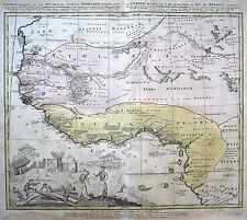 Kupferstich Ansichten & Landkarten von Afrika