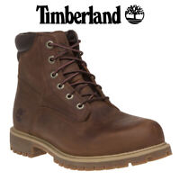 TIMBERLAND ALBURN 6 INCH BOOTS MD BROWN - rugged leather waterproof TB 0A1H8Q855