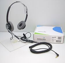 ADD770-07 Binaural HEADSET with 3.5mm Plug Cable for Alcatel 4028 4029 8038 8039