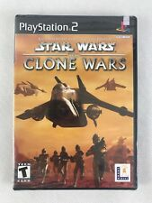 PS2 Star Wars The Clone Wars, NTSC US, Brand New & Sony Factory Sealed