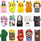 Cute 3D Cartoon Soft Silicone Rubber Case Cover Back For Samsung Galaxy Phones