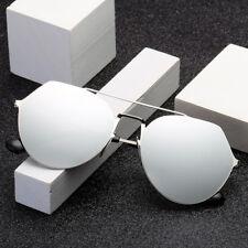LE Unisex Korean Metal Sunglasses Mirror Coating UV400 Glasses Geometric Rimless