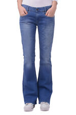 RRP €120 DIESEL W29 L32 Women's Louvboot 0RP36 Distressed Faded Bootcut Jeans