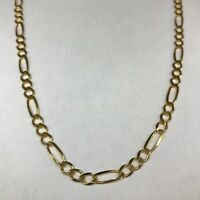 "Solid 9ct 375 Yellow Gold Figaro Necklace 16""18""20""26""28""30"" (4.35mm)"