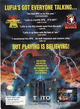 Taito 1994 LUFIA Fortress of Doom Super Nintendo SNES video game print ad page
