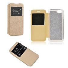 % Flip Case Handy Tasche Etui S-view Cover Samsung Galaxy Ace NXT SM-G313 gold