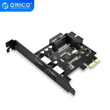 SuperSpeed 20 PIN 2 Ports USB 3.0 PCI Express Card Adapter Hub Controller for PC