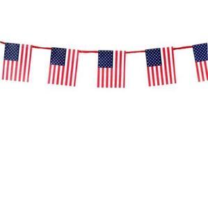 American Flag Garland tin1403 Dollhouse Miniature