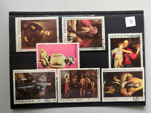 Panama famous paintings stamps from Stanley Gibbons