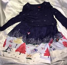 Joules *NEW* Baby Girls Winter/Party/Christmas Dress Age 12-18 mth RRP £44.95