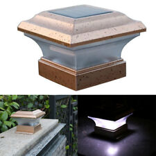 4x4 Home Garden Solar Copper Post Deck Cap Square Fence Light Plastic LED 28lm