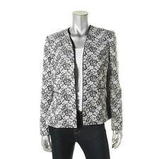 1992-1 Tahari Womens Grey Jacquard Textured Open Front Blazer Jacket, sz18, $280
