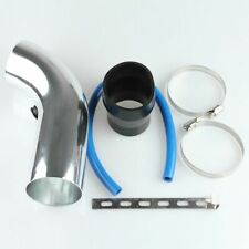 """3"""" Car Cold Air Intake Induction Pipe Filter Tube System Aluminum Silver New"""