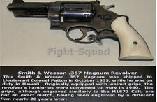 WW2 Picture Photo Patton Famous Revolver Smith and Wesson 357 magnum 2882