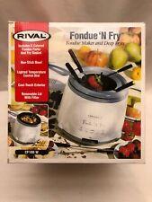 Rival CF-100W Electric Fondue 'N Fry - Fondue Maker and Deep Fryer