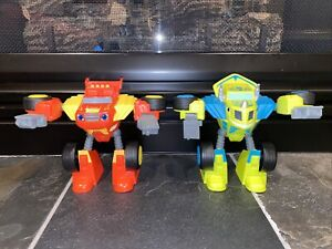 Blaze and The Monster Machines Robot Riders Transforming Blaze & Zeg! HTF!
