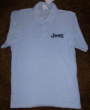 JEEP Embroidered Quality Polo Shirt-Sky Blue-NEW-Medium-SUPERB ***