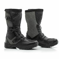 RST Raid Touring Adventure CE Leather Waterproof Motorcycle Boots - Black/Grey
