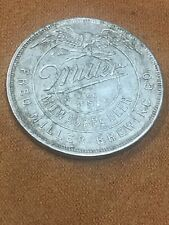 Fred Miller Beer Keg Token 1/4 Barrel Old Rare Pre Pro Coin Keg Check Antique