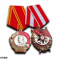 Order of Lenin + Order of The Red Banner Set - Highest Soviet Military Medals