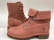 Timberland Women's Teddy Fold Down 7 Eye Nubuck  Suede Pink Sample Size 7 Nice