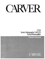 Carver CT-6 Tuner Owners Manual