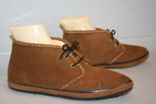 7.5 S NOS Vtg 60s 70s MOD ANKLE BOOT LaCrosse Solaires BROWN SUEDE BOOTIE Shoe