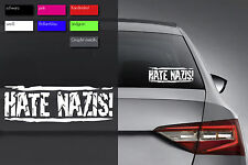Hate nazis-adhesivo 24-hardcore XXX punk refugees Welcome Antifa tolerancia