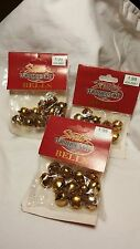 "1/2"" Gold Tone Metal Craft Bell Christmas Jingle Bell Craft Decoration 36 piece"
