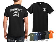 Carpintero Camiseta - Calavera con Logo Carpintería Madera