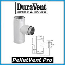 """DURAVENT PELLETVENT PRO Pipe 3"""" Increaser Adapter Tee with Cap #3PVP-TADX4 NEW!"""
