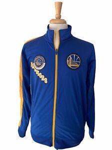 Adidas Golden State Warriors NBA Full Zip Track Jacket 4X Champions Sz Small