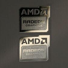 2x AMD Radeon Graphics Chrome Metal Sticker Case Badge | New Version 19x16mm USA