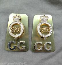Original Genuine Issue British Army Grenadier Guards Metal Shoulder Titles