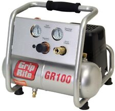 Grip Rite Portable Air Compressor Finish Trim Oil Free 1 Gal Lightweight New