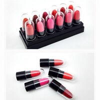 12PCS/Set Lipsticks Long Lasting Mini Lipstick Lip Moisturizing Gloss Cream AW-