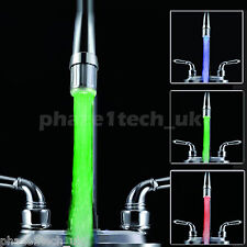 LED Faucet Aerator RGB Mixer Tap fitting Temperature Controlled 3 colour change