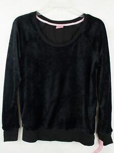 Jenni by Jennifer Moore Women's Black Velour Pajama Top Size s