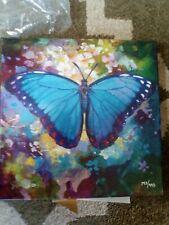 """Simon Bull Limited Edition """"Blue Morpho"""" Giclee on Canvas"""